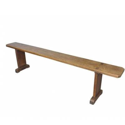 Antique Victorian Solid Oak Victorian Bench