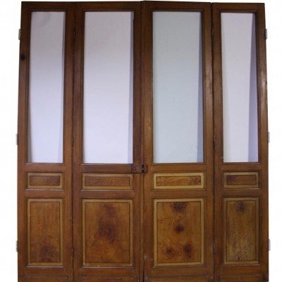 Four section painted pine room divider