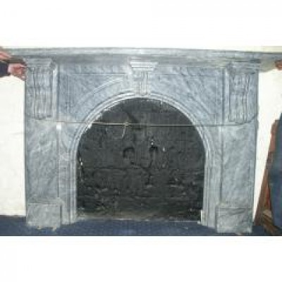 large good victorian marble fireplace