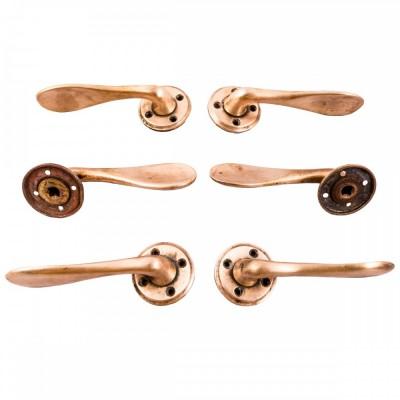 Rose Brass Lever Door Handles
