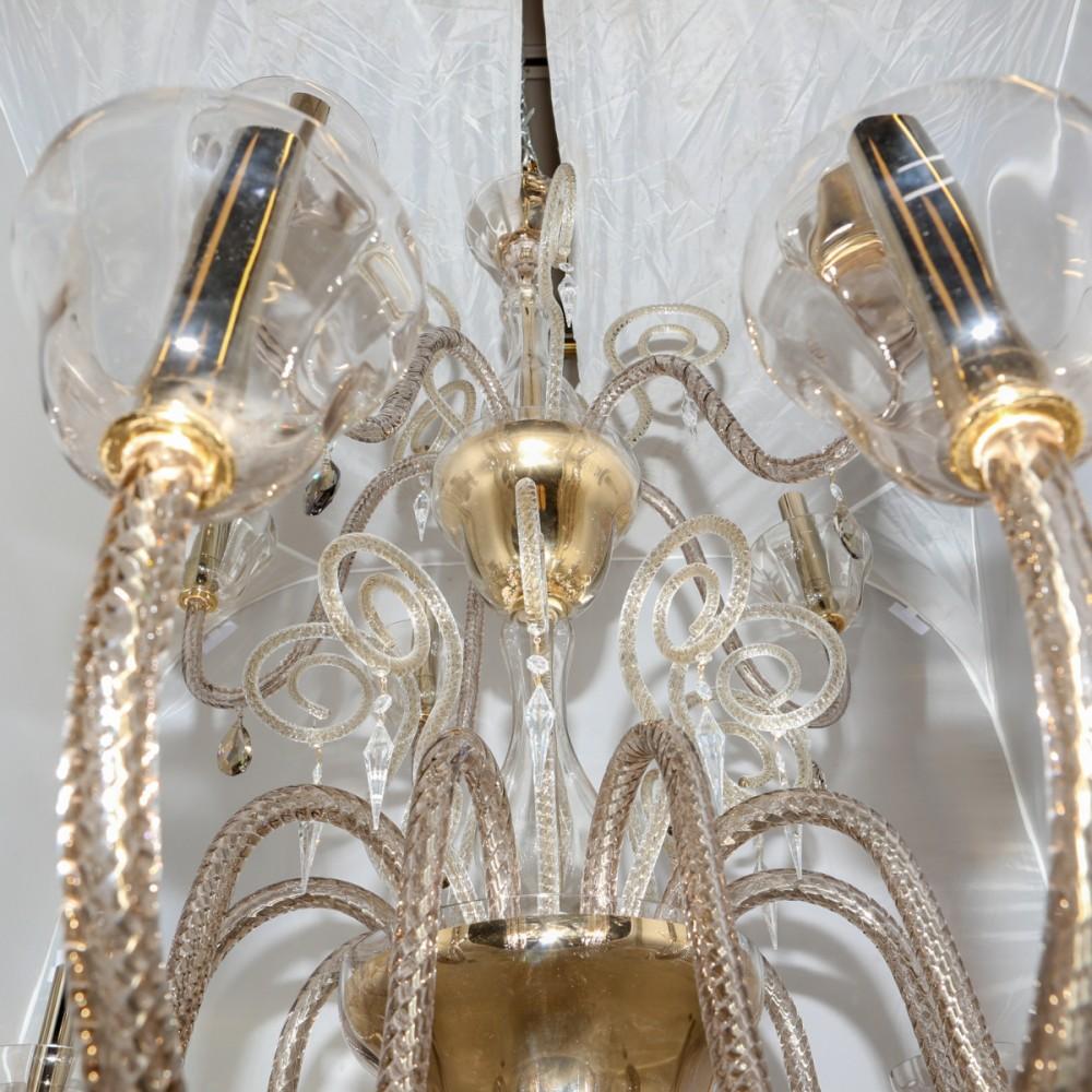 Reclaimed BEBY Italy Murano Glass Chandelier