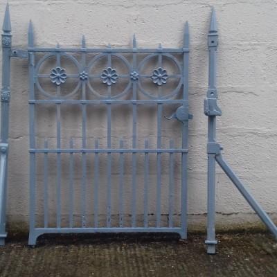 Victorian cast iron pedestrian gate with its original posts.