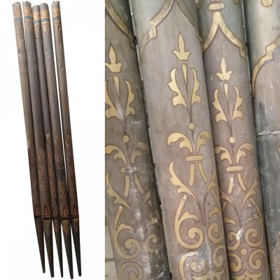 5 Antique Church Organ Pipes