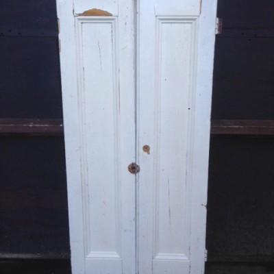 "Antique Wooden Window Shutters - 26.75"" x 56"""