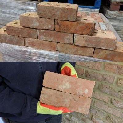 3 holed Wire Cut Bricks