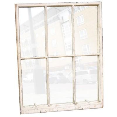 Antique Sash Window Glazed with Mirror