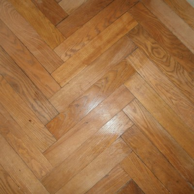 Antique oak parquet flooring from french chateau