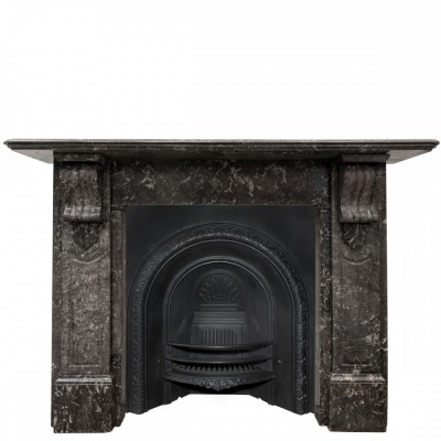 Antique Victorian St Anne's Marble Corbel Fireplace Surround (pair available)