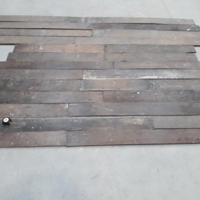 "Reclaimed Georgian Oak Floorboards 7.50 m2 in Total 7"" to 8"" Wide"