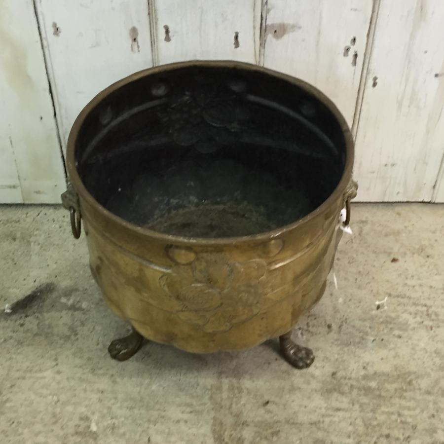 Reclaimed Brass Coal Bucket
