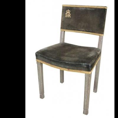Very Rare Original Elizabeth II Limed Oak Coronation Chair 1953