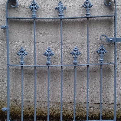 Victorian wrought iron garden gate.