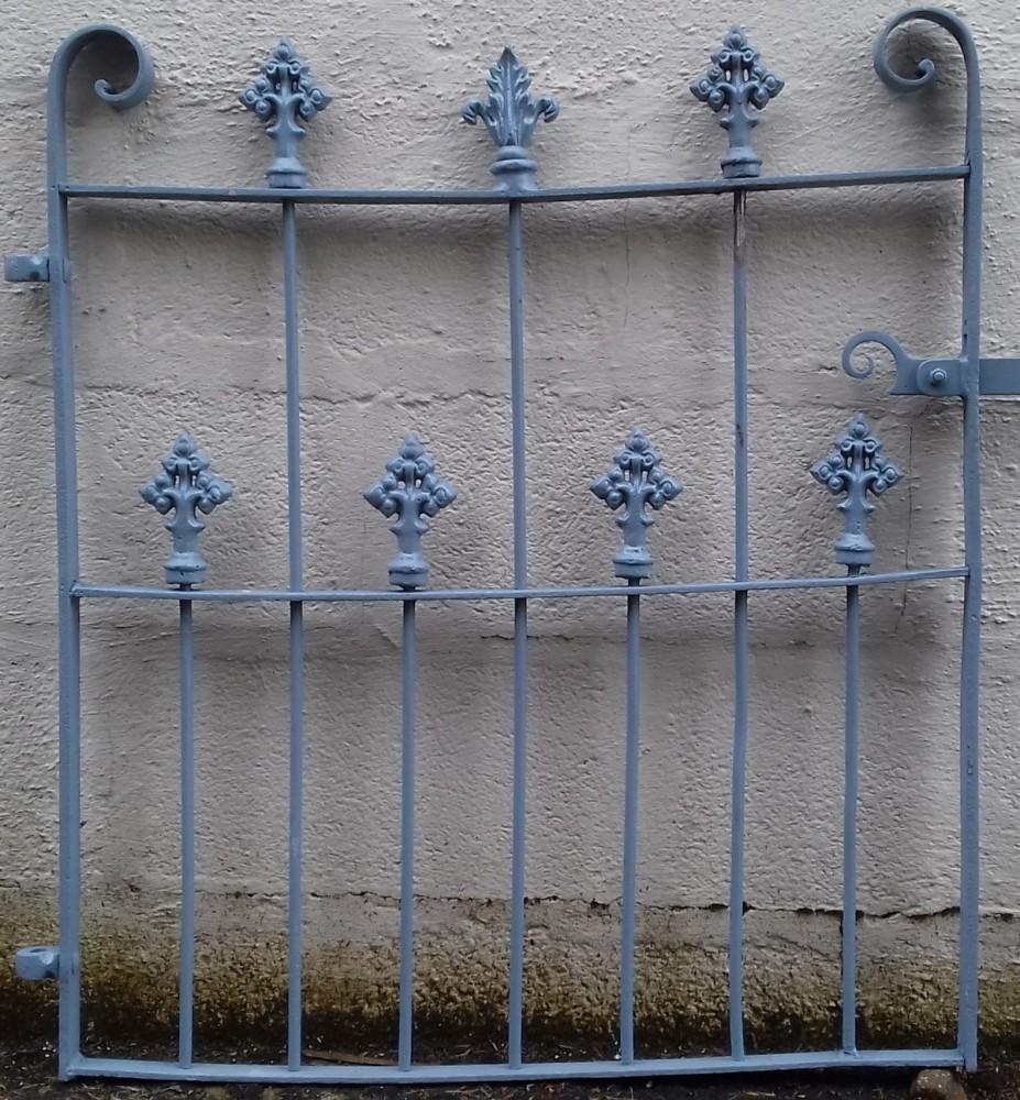 Victorian wrought iron garden gate.
