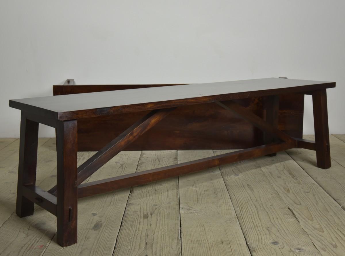 Pair Mahogany Benches / Coffee Tables