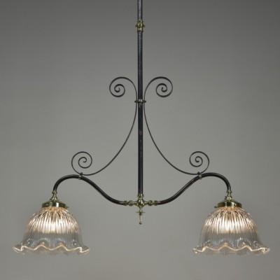 Victorian Iron & Brass Gasolier