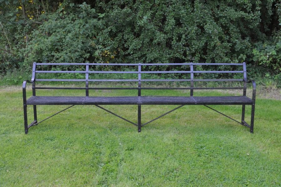 antique ten foot wrought iron bench