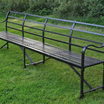 antique ten foot wrought iron bench