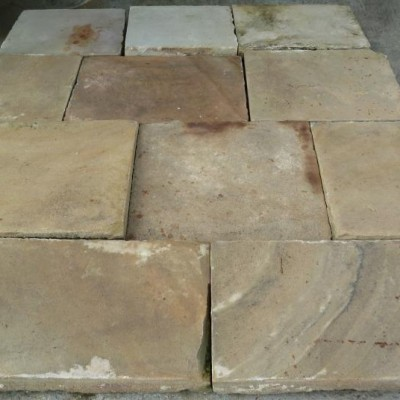antique reclaimed flagstones in sandstone
