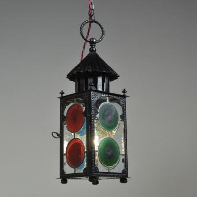Victorian Bullseye Glazed Lantern