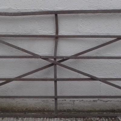 Antique wrought iron farm gate.