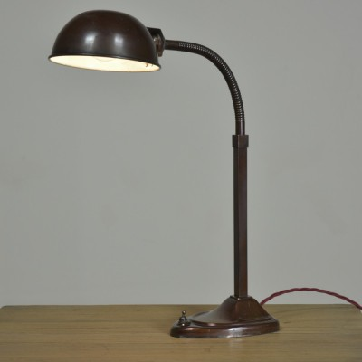 Bronzed Brass Table / Desk Lamp