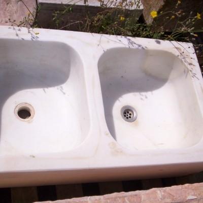 Antique marble sink