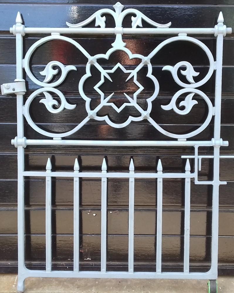 Victorian cast iron pedestrian gate.