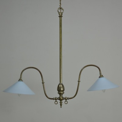 Gilt Brass Gasolier 19th Century