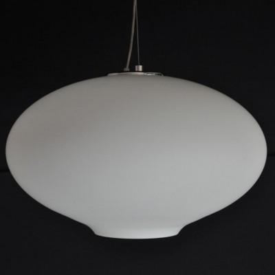 Large italian handblown opal glass pendant lights