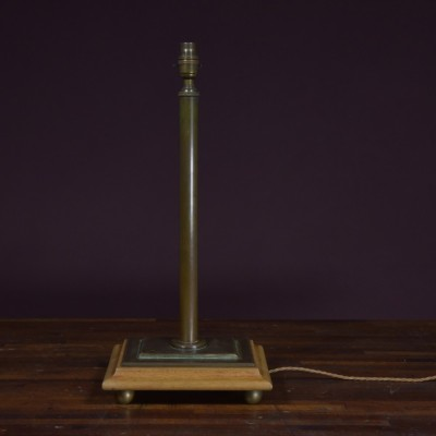 Mahogany & Brass Table Lamp
