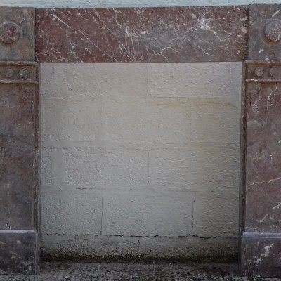 Victorian Rouge Marble Fire Surround.