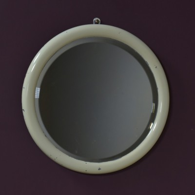 Circular Aluminium Framed Mirror
