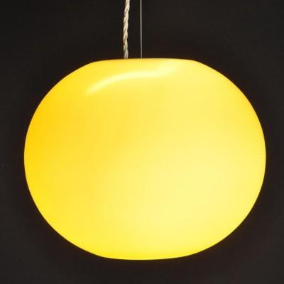 Italian hand blown amber globes