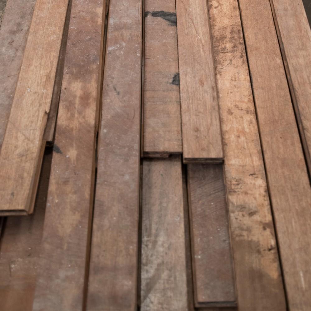 Reclaimed Iroko Floorboards