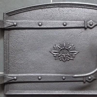 Victorian cast iron bread oven door