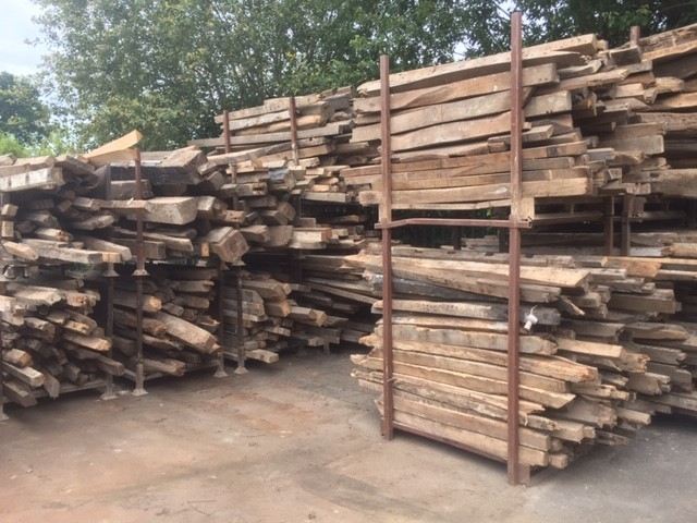 Reclaimed timber: joists, purlins, character beams