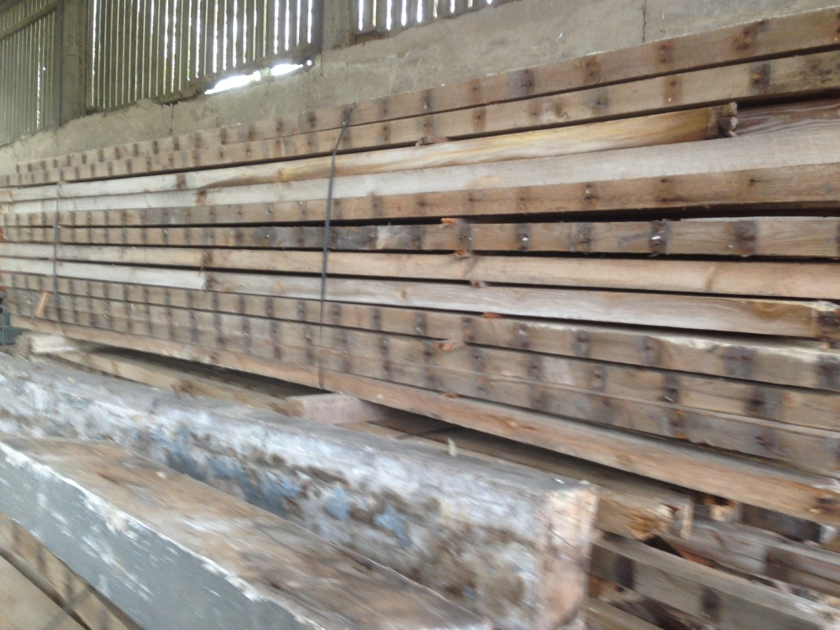 "Softwood joists / 4"" x 2"" timbers"