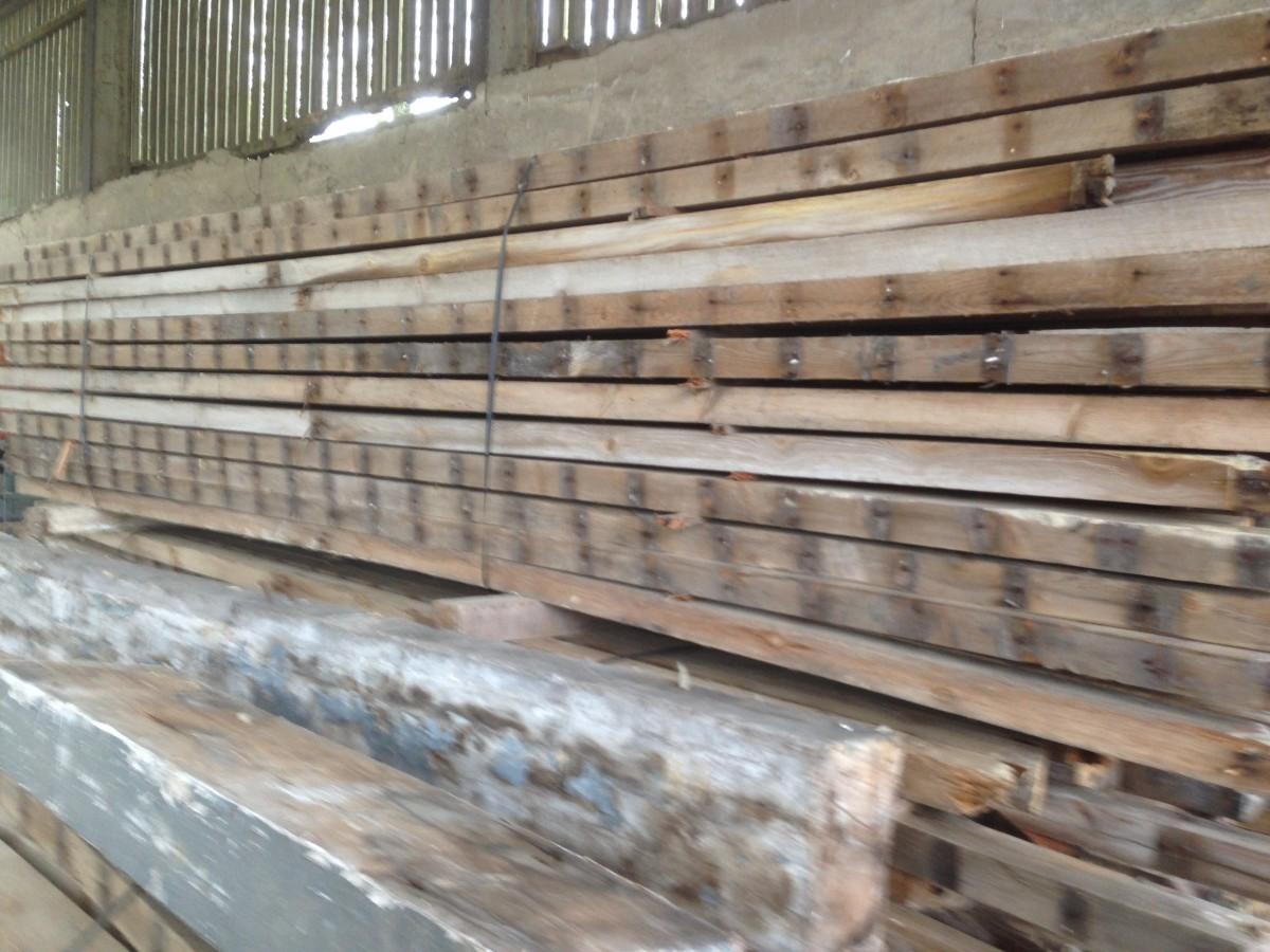 "Softwood joists / 4"" x 2"" timbers"