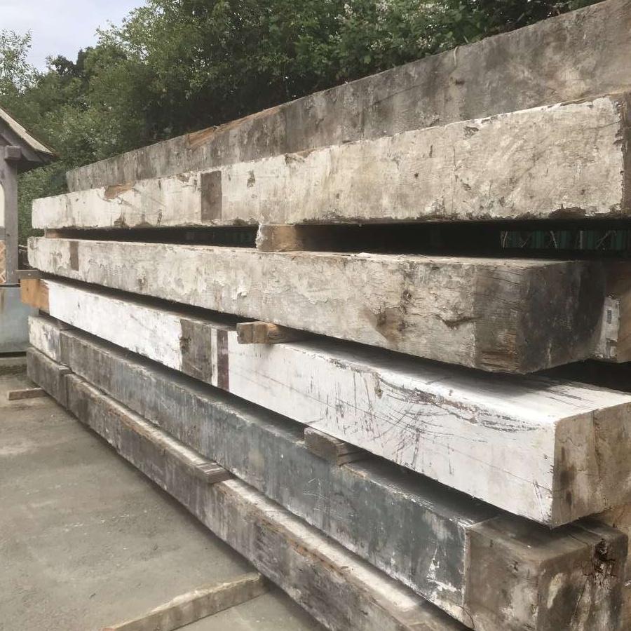 Large section reclaimed douglas fir beams
