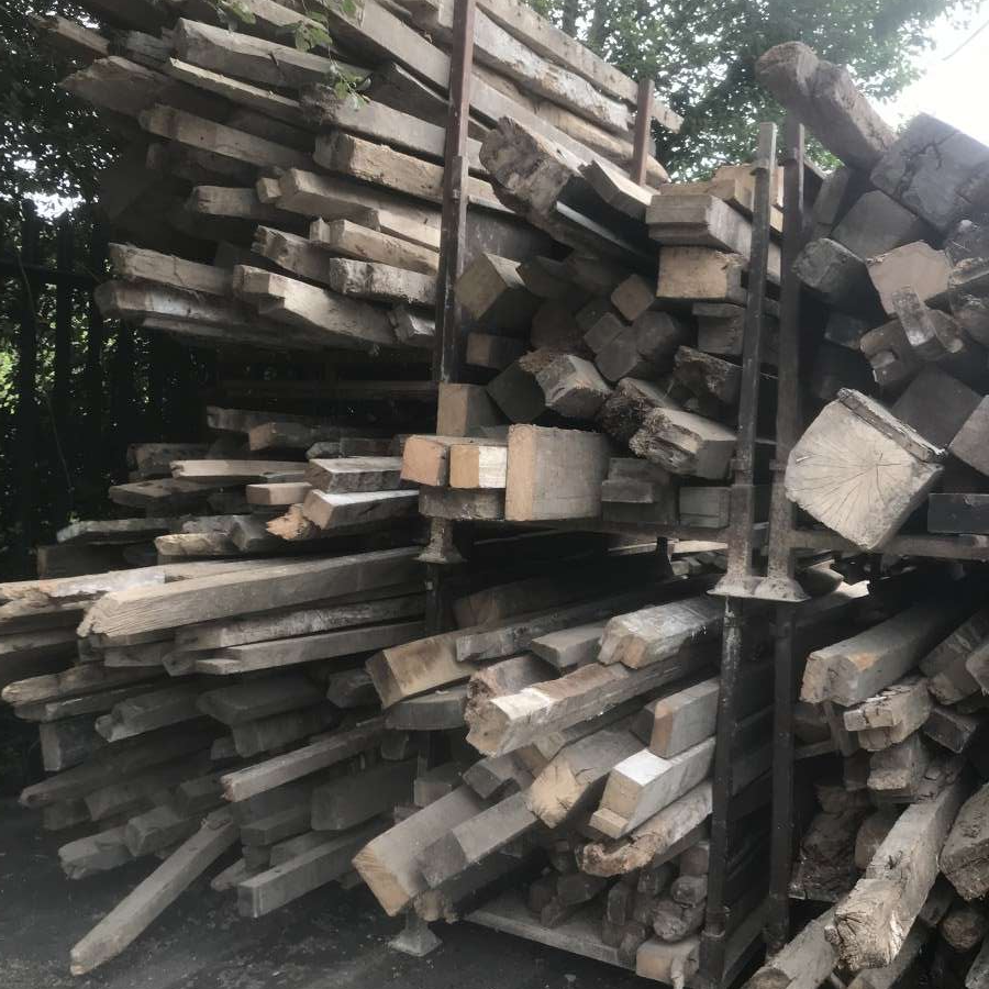 large stocks of reclaimed timber