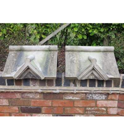 Pair of Gothic Saltglazed Finial Pier Cappings
