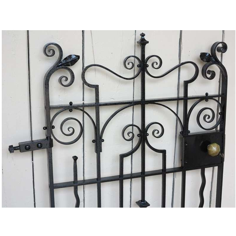 Victorian Wrought Iron Pedestrian Gate with Working Lock