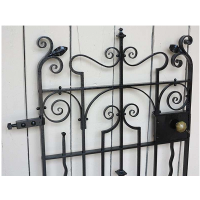 Victorian Wrought Iron Pedestrian Gate with Working Lock