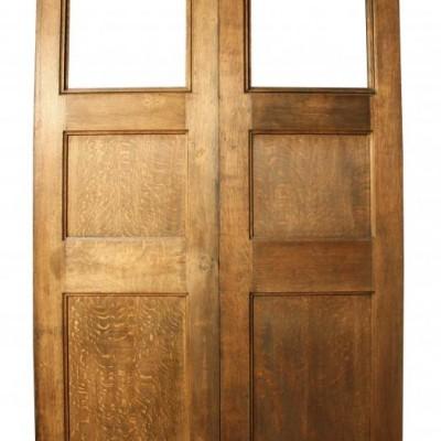 Pair of late 19th C. oak church doors