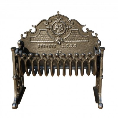 A small late 19th C. French cast iron fire grate