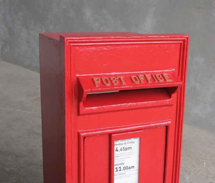 Royal Mail Letter Box.Original Royal Mail Post Office Erii Wall Mounted Post Box With Back Door