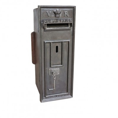 Antique VR Post Box - Polished Down to Bare Metal and Lacquered