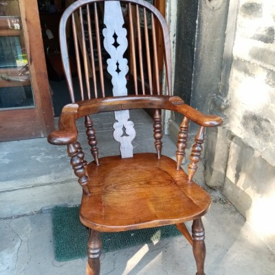 Victorian high back Windsor chair