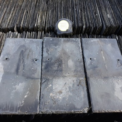 "Reclaimed 14"" x 7"" Welsh Blue Grey Slate Ffestiniog 10000 available"