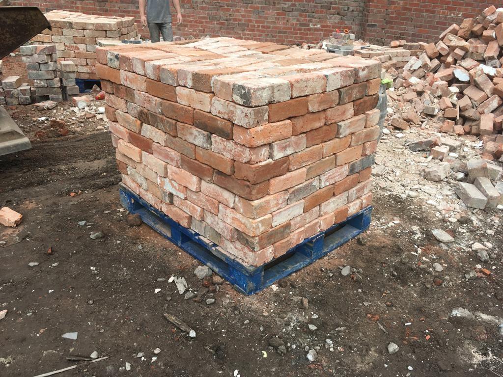 Quality Reclaimed Cheshire Handmade Bricks 73mm